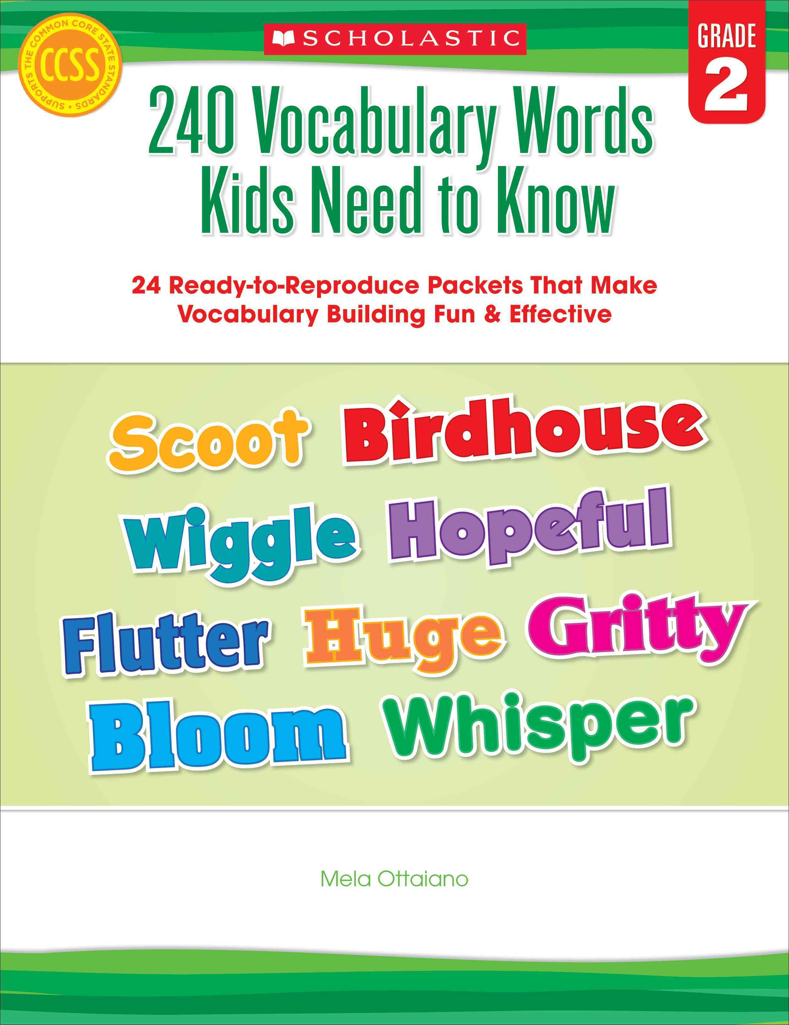 240 Vocabulary Words Kids Need to Know, Grade 2 By Ottaiano, Mela
